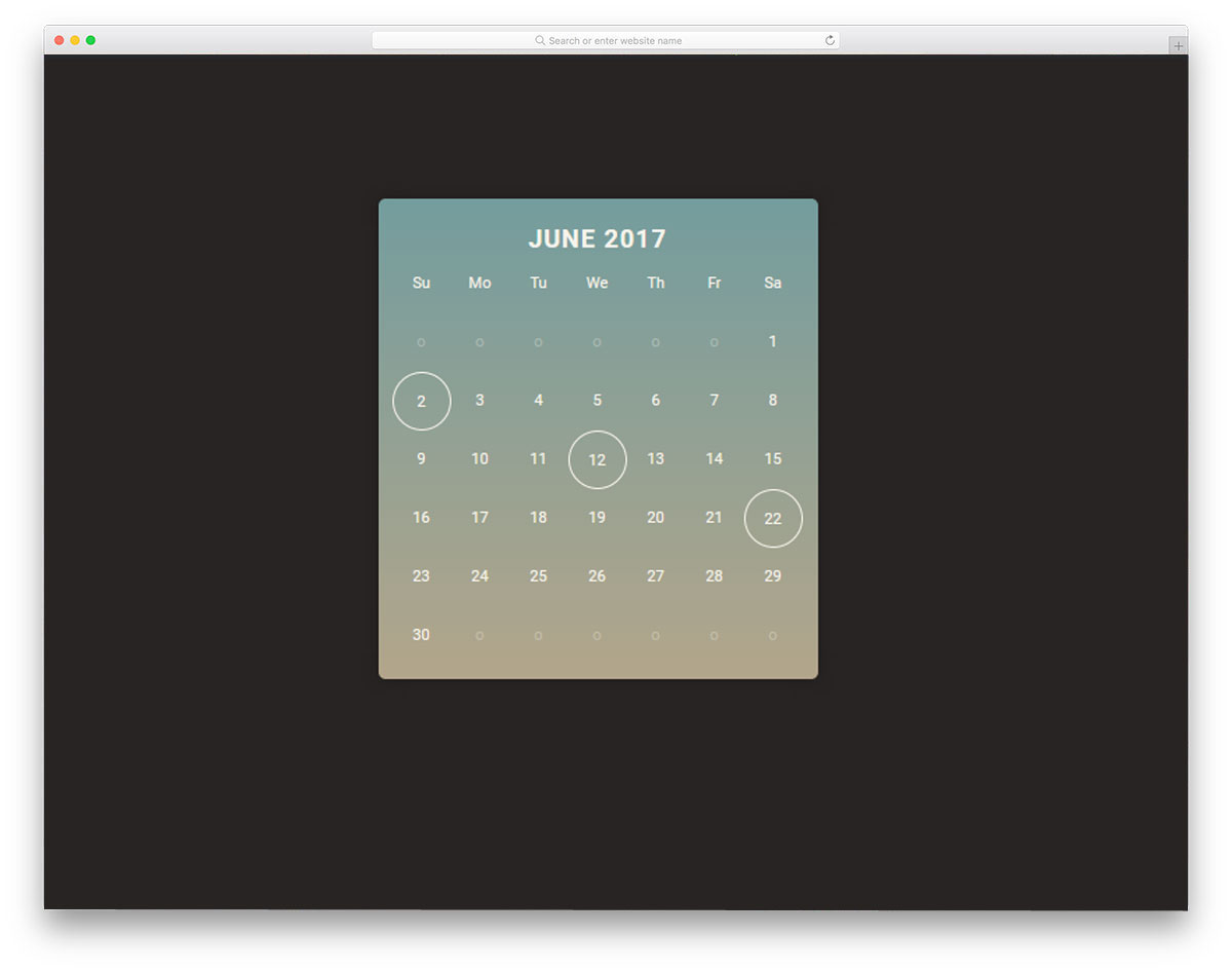 30 HTML Calendar Designs To Easily Organize Goals And Events.