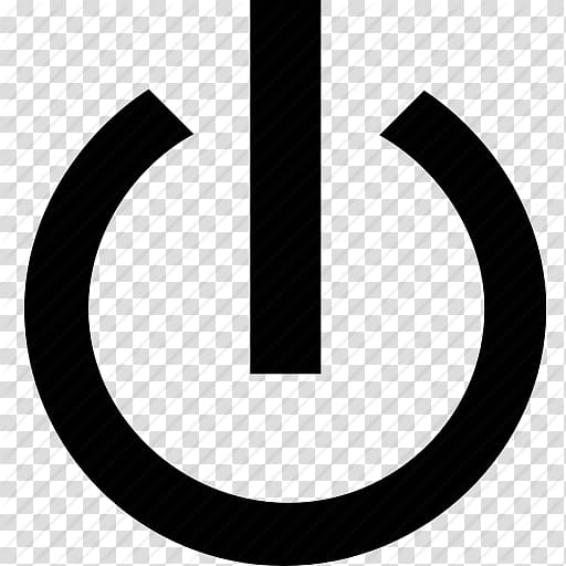 Black power icon illustration, Computer Icons Power symbol.