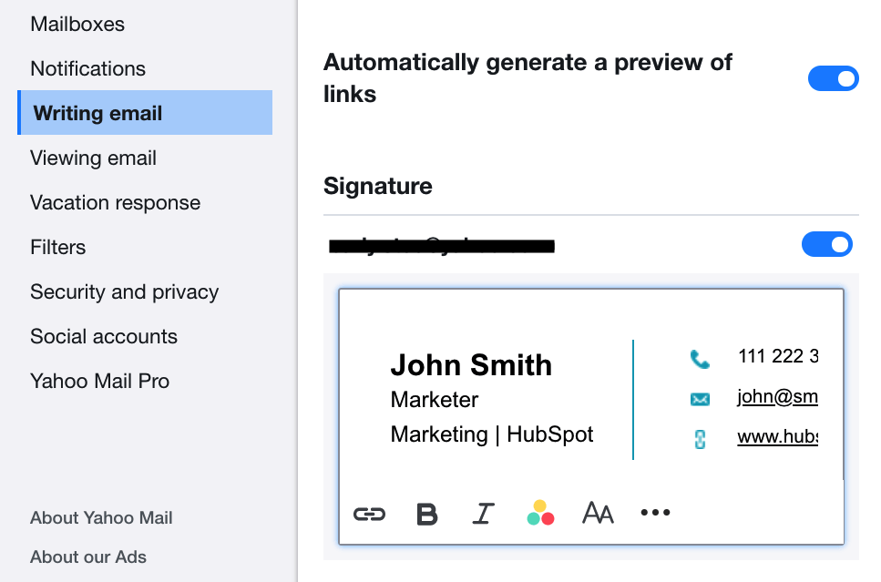 Free Email Signature Template Generator by HubSpot.
