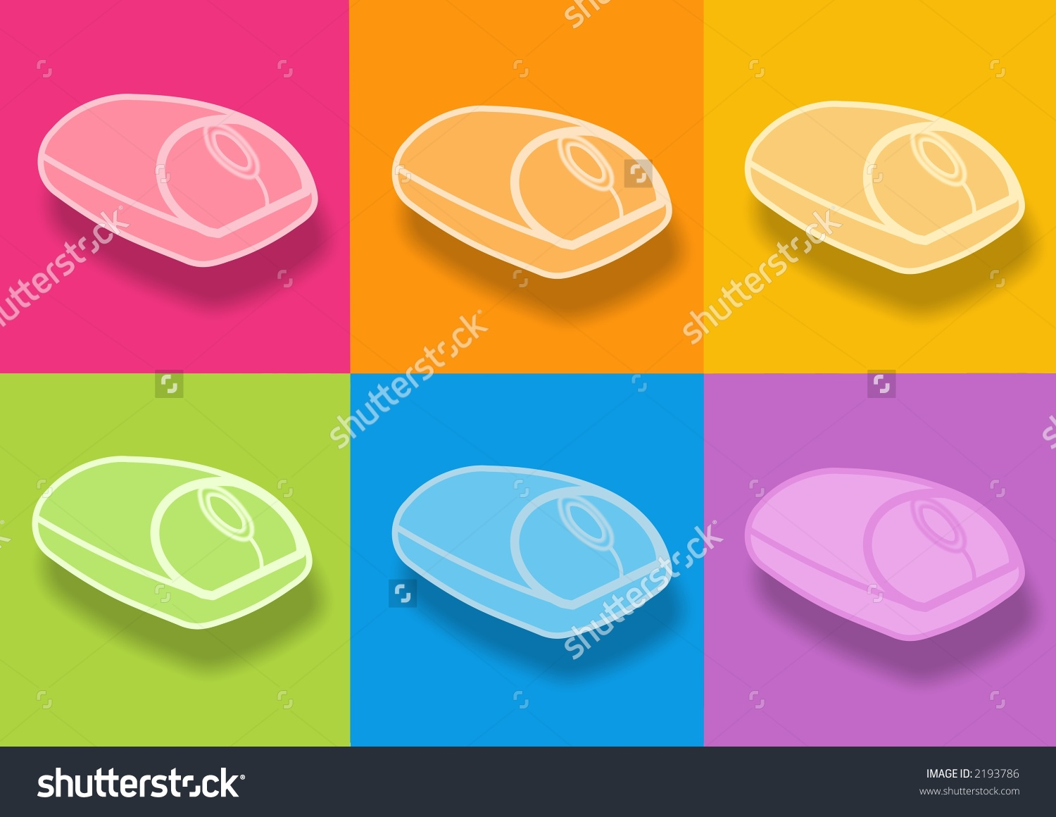 3d Mouse Icon Computer Generated Clipart Stock Illustration.
