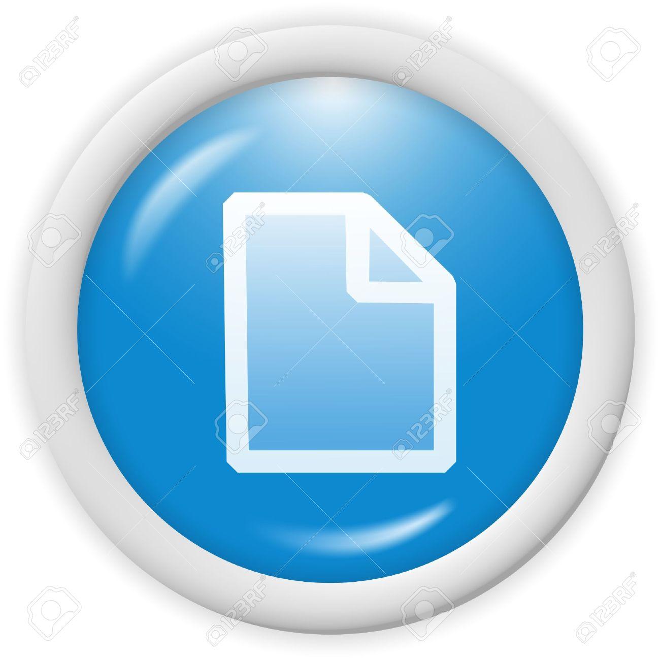 3d Blue Icon.