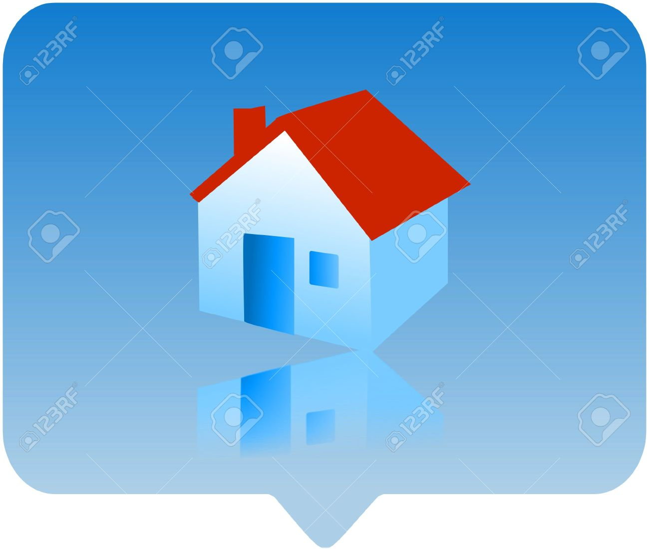 3d House Icon.