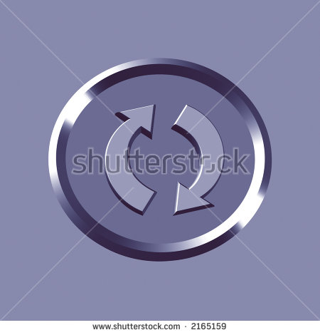 3d Recycle Icon.