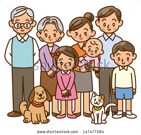 Family Generation Clipart.