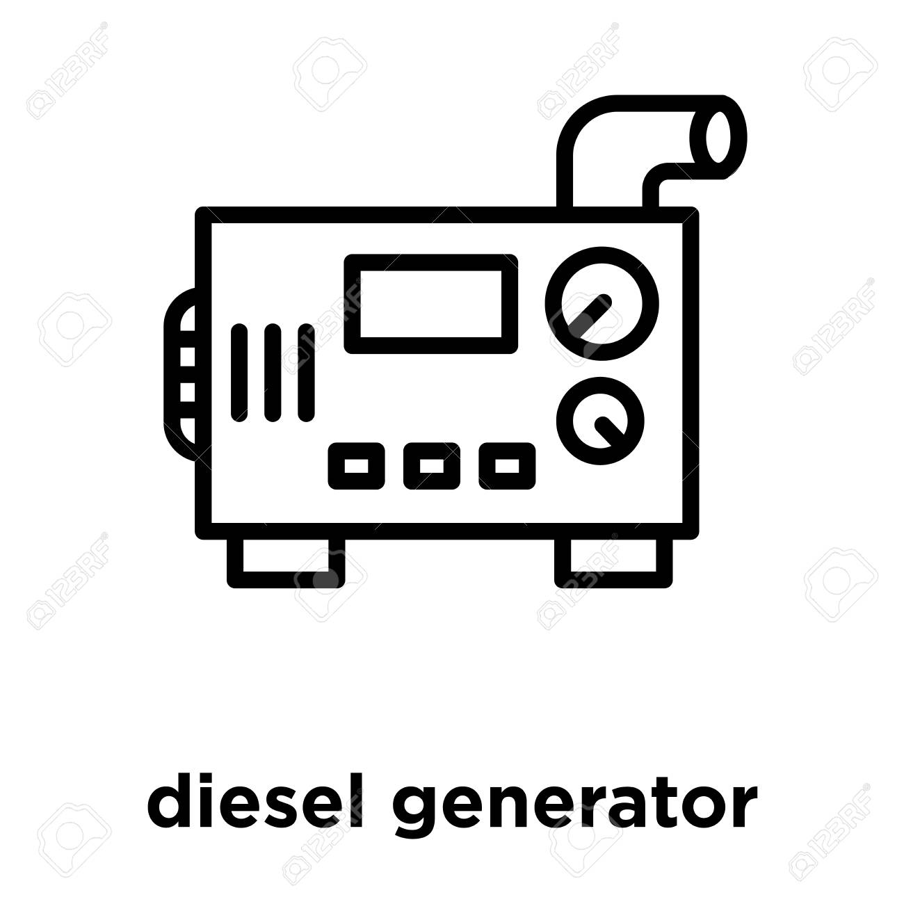 diesel generator icon isolated on white background, vector illustration.