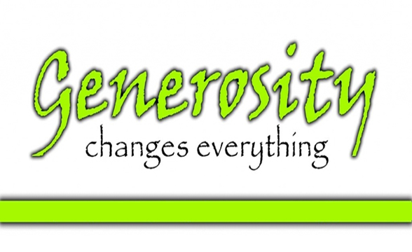 Do you want to change the world? Think generosity.