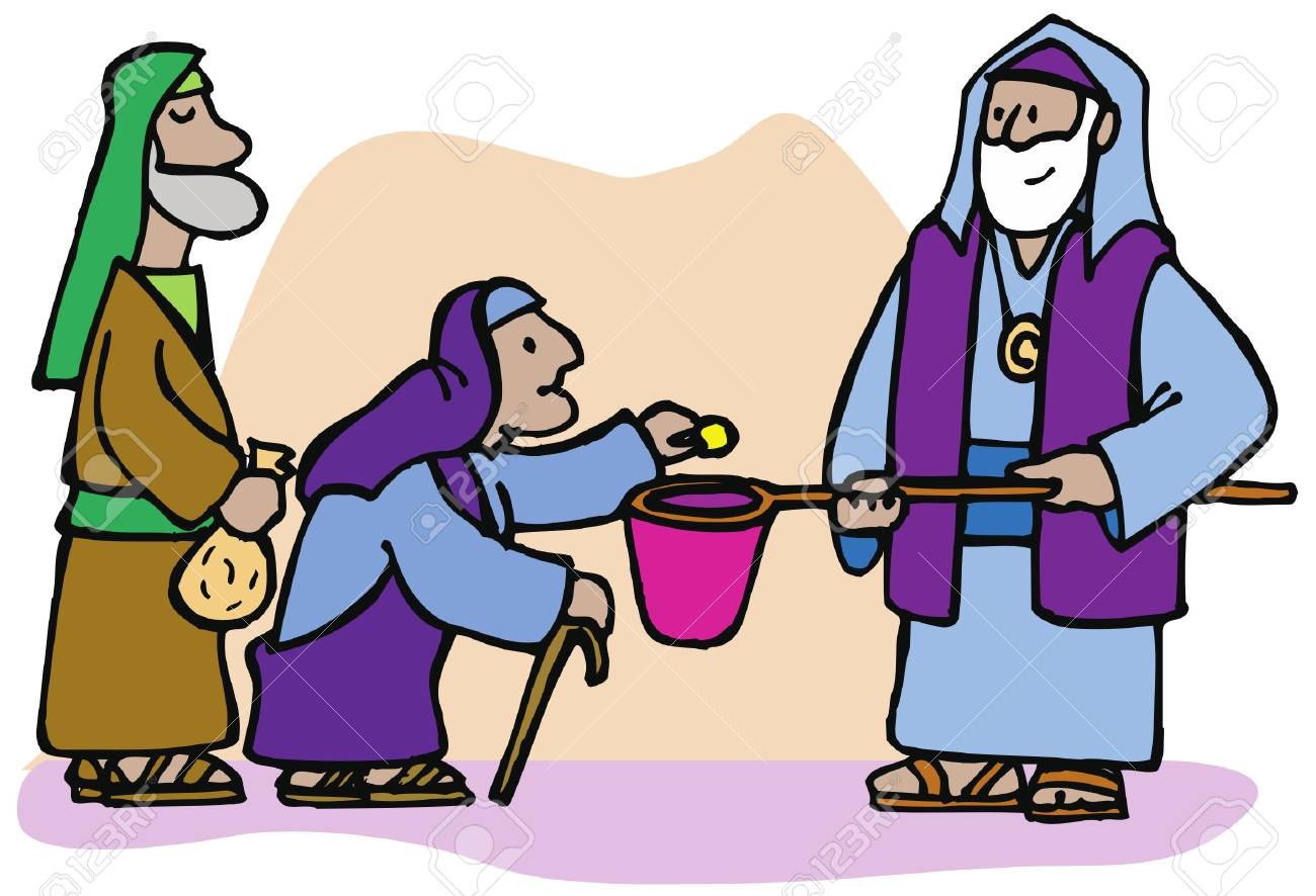 A generous widow gives a coin in the temple even though it is...