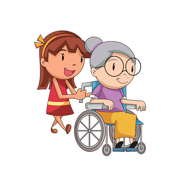 Generous Home Health Aid Illustrations, Royalty.