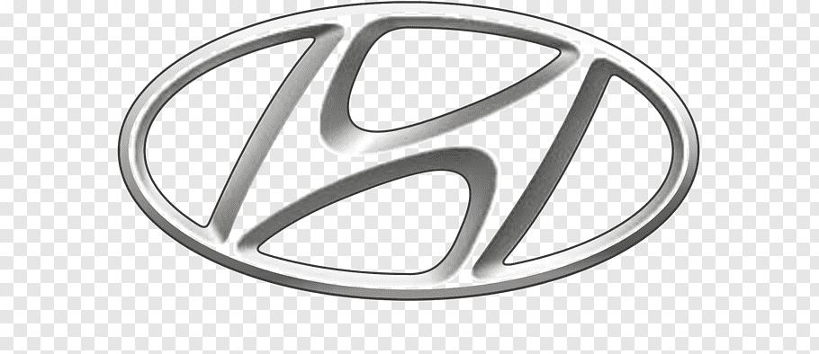 Gray Hyundai emblem, Hyundai Motor Company Car Hyundai.