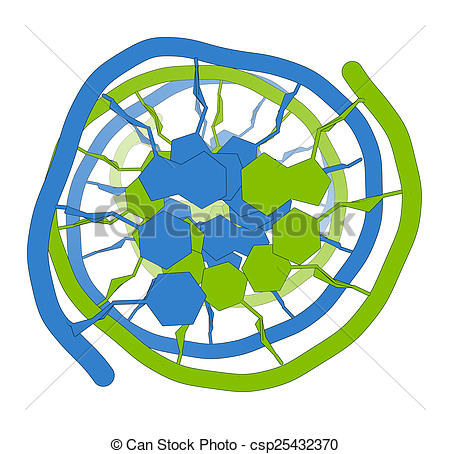 Stock Illustrations of DNA molecular structure. Main carrier of.