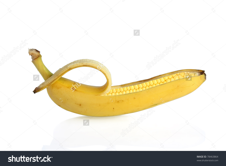Gmo Corn Genetically Modified Banana Maize Stock Photo 78463864.