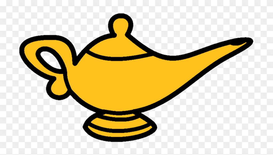 Oil Lamp Clipart Aladdin's Lamp.
