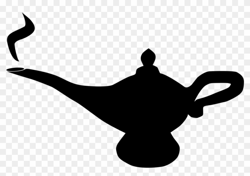 Genie Lamp Clipart Knowledge Pencil And In Color Genie.