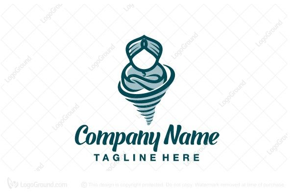 Exclusive Logo 19572, Storm Genie Logo.