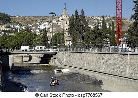 Picture of river genil in Granada.
