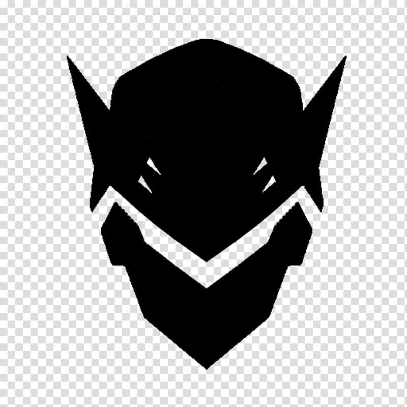 Black mask illustration, Overwatch Genji: Dawn of the.