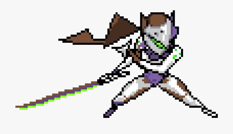 Overwatch Genji Pixel Spray , Transparent Cartoon, Free.