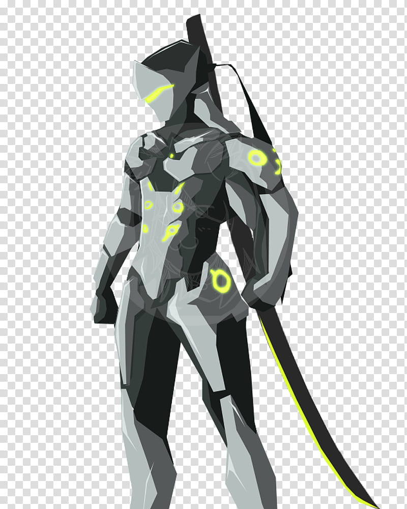 Overwatch Genji Cel Shade transparent background PNG clipart.