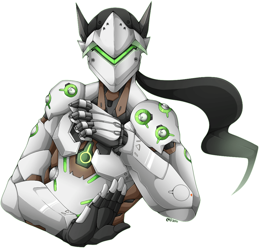 HD Genji Overwatch Png Transparent PNG Image Download.