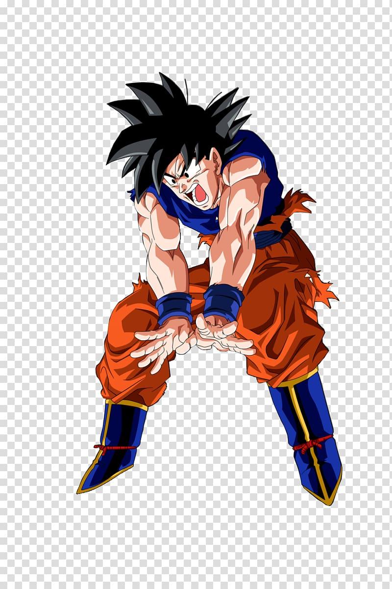 Goku Majin Buu Vegeta Gohan Genkidama, goku transparent.