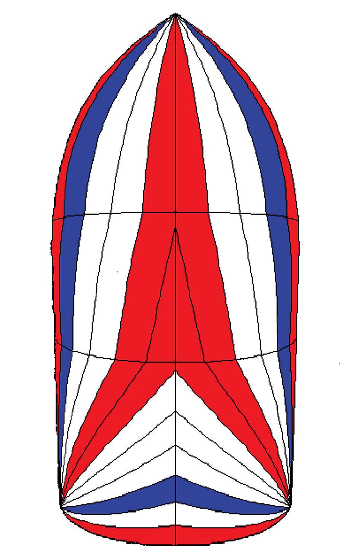 Symmetric spinnaker / for cruising sailboats / tri.