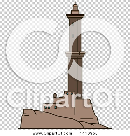 Clipart of a Sketched Italian Landmark, Lighthouse of Genoa.