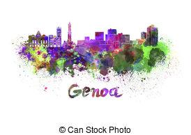 Genoa skyline Clipart and Stock Illustrations. 15 Genoa skyline.