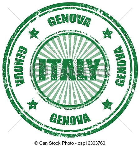 Clip Art Vector of Genova.