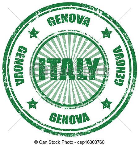 Clip Art Vector of Genova.