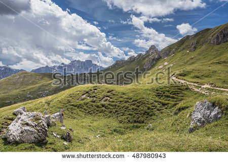 Trekking In The Dolomites Stock Photos, Royalty.