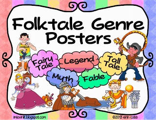 Free Folktale Genre posters. Also, link to the clip art challenge.