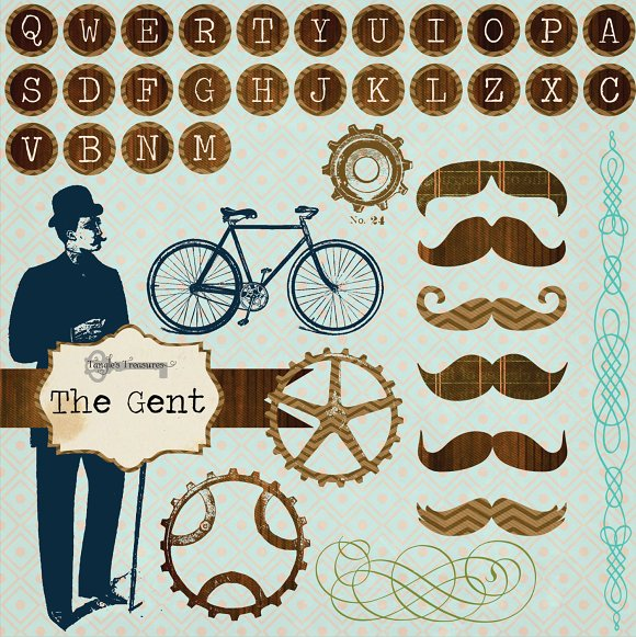 The Gent Clipart ~ Graphics on Creative Market.