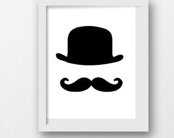 top hat mustache clip art.