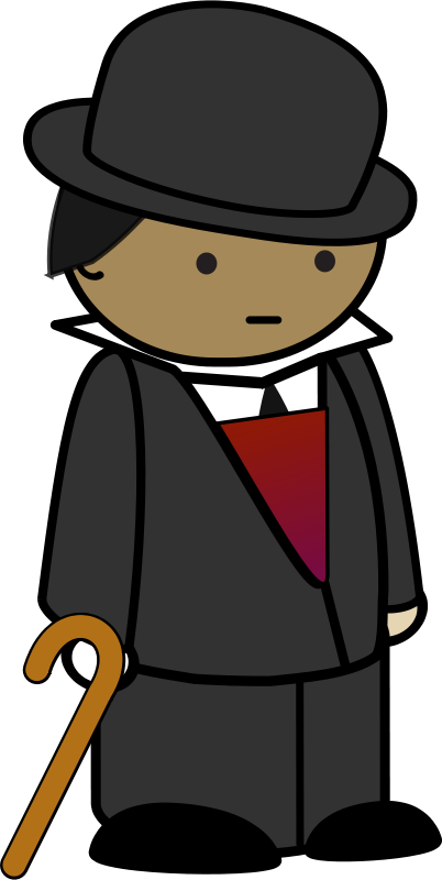Dapper gentleman clipart.