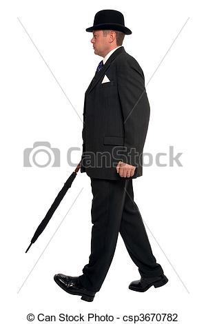 Stock Photo of City gent walking.