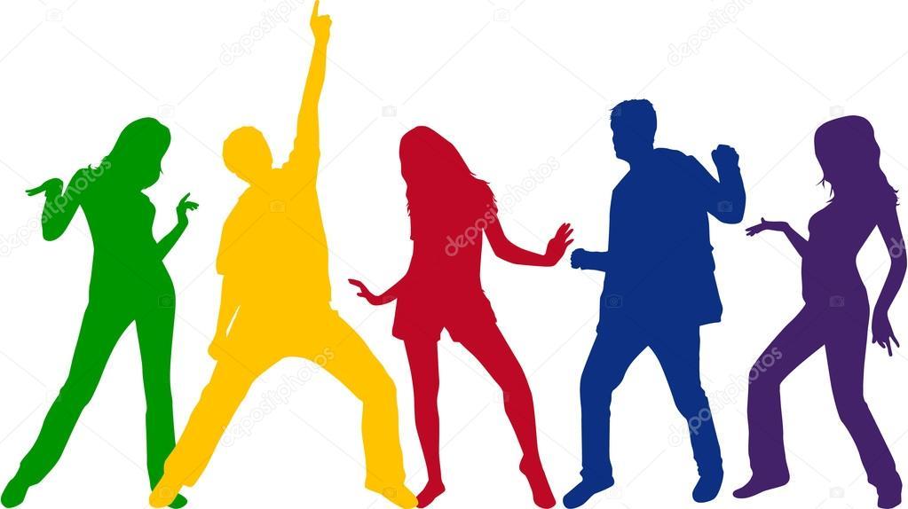 Vector: personas bailando png.