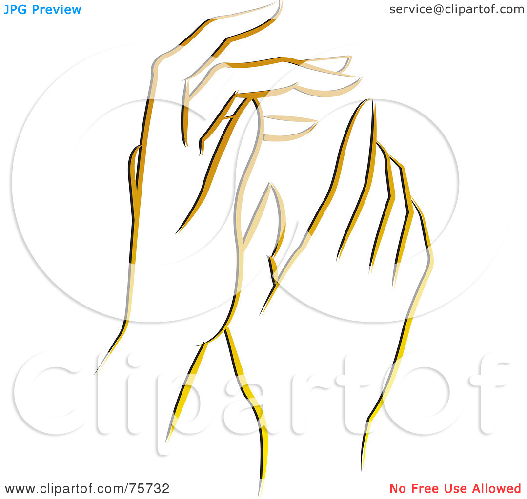 Gentle Hands Clipart.