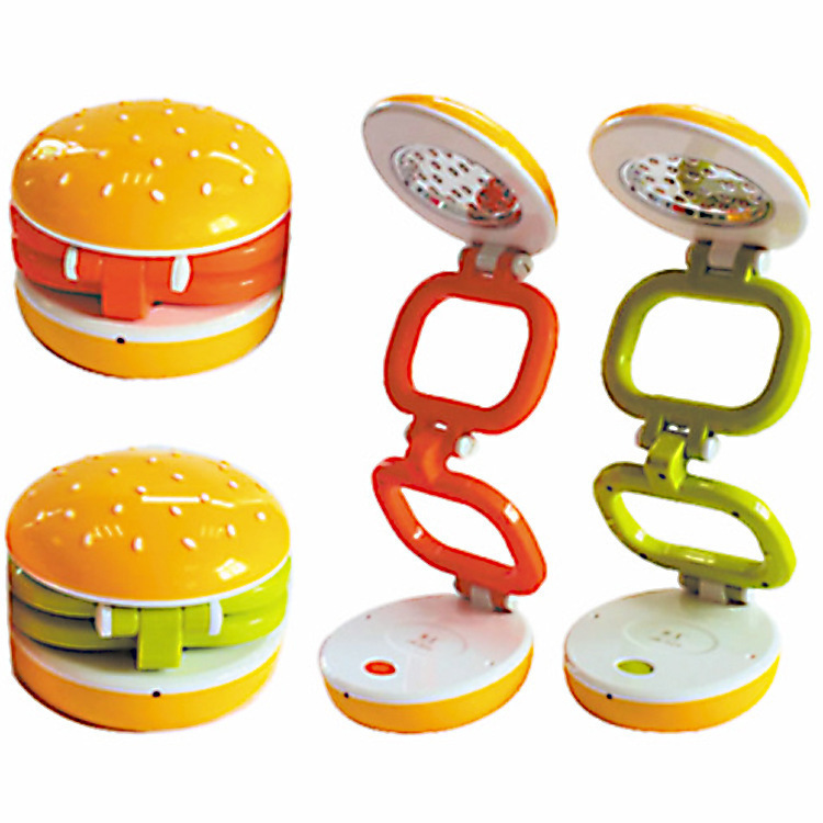 Hamburger Shape Gentle Light 22 LEDS Desk Lamp Dimmable.