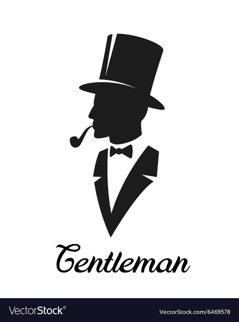Gentlemen silhouette logo.