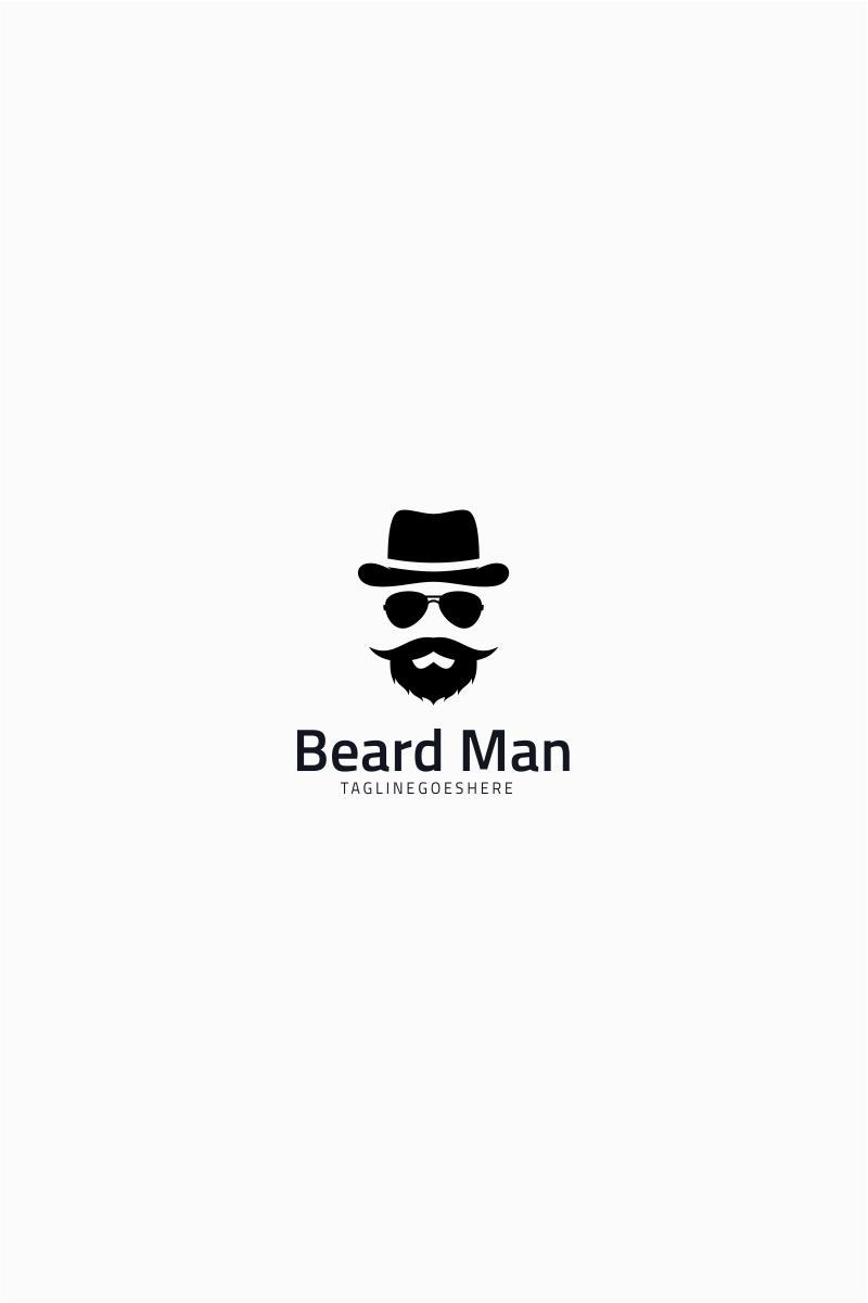 Hipster Gentleman Logo Template.