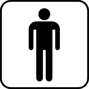 Gents toilet clipart.