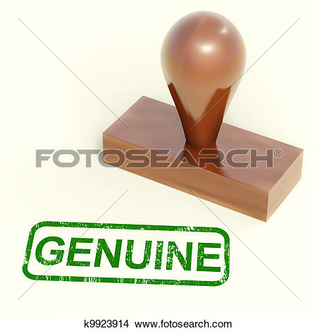 Drawings of Genuine Stamp Showing Real Certified Products k9923914.
