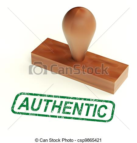 Clipart of Authentic Rubber Stamp Showing Real Genuine Products.