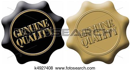 Stock Illustration of Genuine Quality Seals k4927408.