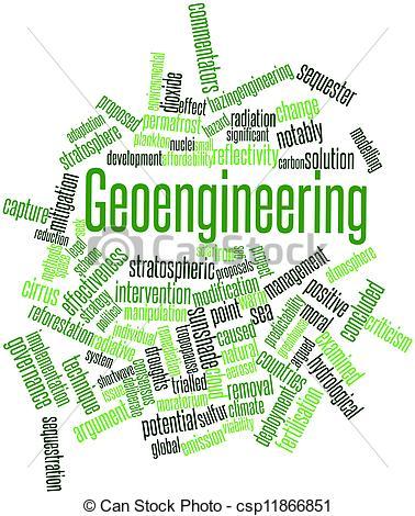 Stock Illustrations of Geoengineering.