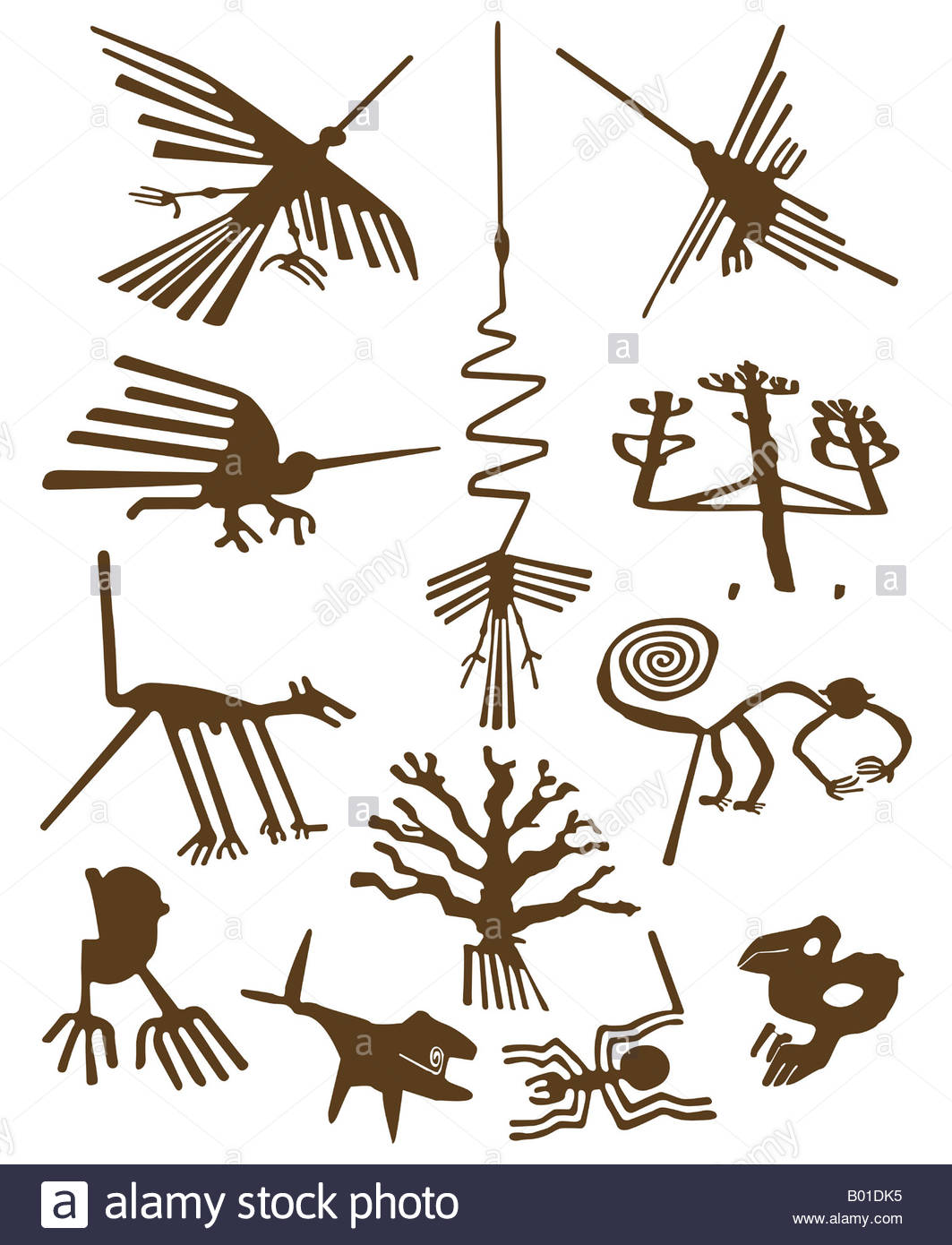 Nazca Lines Geoglyphs Stock Photo, Royalty Free Image: 17243049.