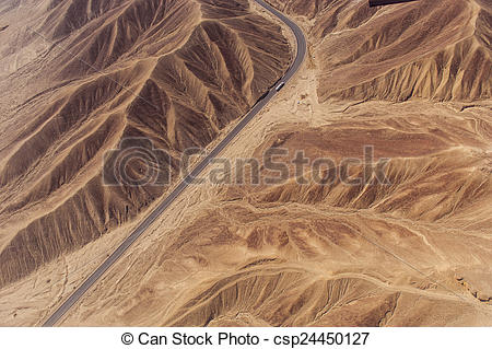 Stock Photo of Nazca Lines and geoglyphs.