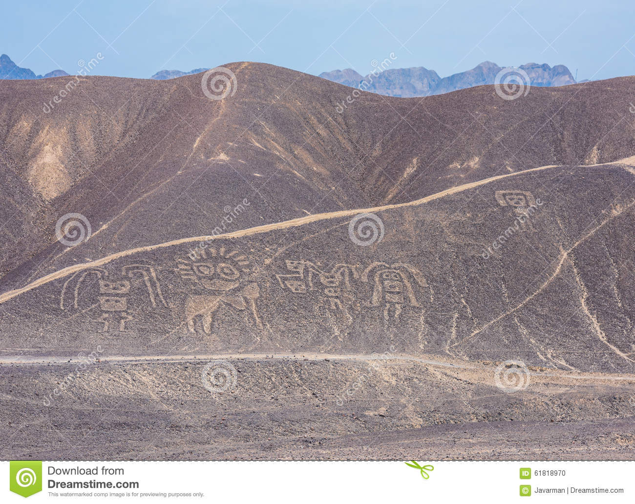 Palpa Lines And Geoglyphs, Peru Stock Photo.