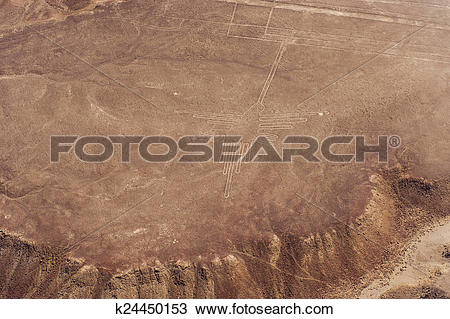 Stock Photo of Nazca Lines and geoglyphs k24450153.
