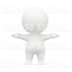 Exclusive D Clipart Of An Enthusiastic Futuristic Robot Holding.